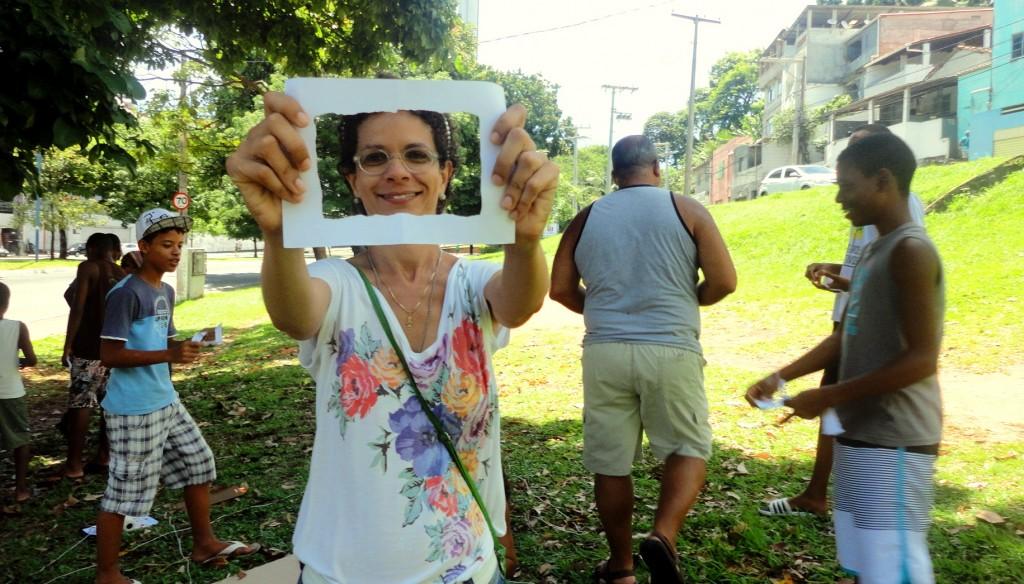 Instrutora Ana Fernanda, da oficina TICs & Liderança